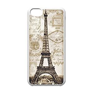 GTROCG Eiffel Tower Phone Case For Iphone 5C [Pattern-4]