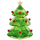 Swarovski Christmas Tree Holiday Figurine, Green