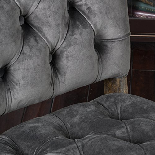 Great Deal Furniture (Set of 2) Myrtle Velvet Charcoal Dining Chair by Great Deal Furniture (Image #2)