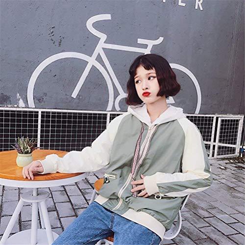 Coat Donna Prodotto Autunno Di Outdoor Plus Giacca College Cappotto Bolawoo Giaccone Fidanzato Manica Grün Baggy Jacket Mode Lunga Marca CHzHwZx5