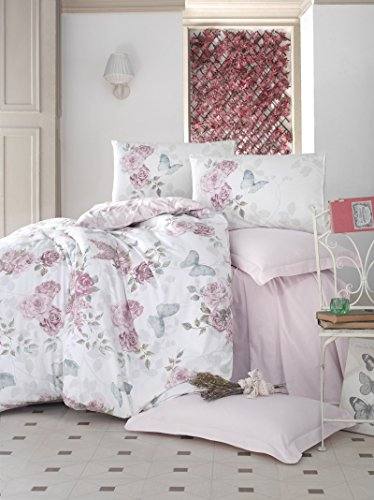- DHD Home Textile 6 Pieces Duvet Quilt Cover Set Double Queen Size Bed Quilt Cover Set - 100% Cotton - Multi Colour Printed with Fitted Sheet
