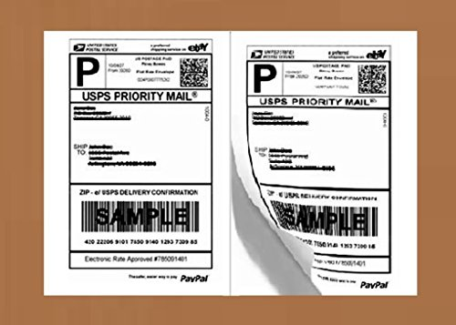 (200 Half Sheet Laser/Ink Jet Shipping Labels USPS UPS FedEx Address)