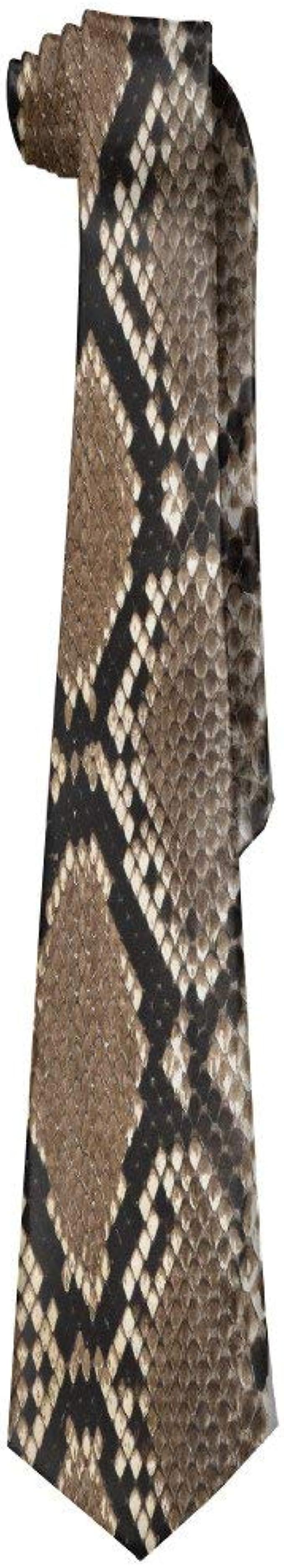 Jxrodekz Corbata de hombre Piel de serpiente Corbata larga salvaje ...