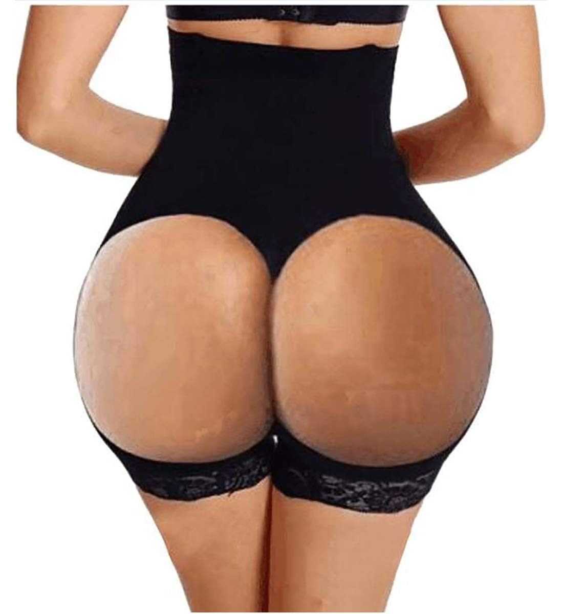 8666aadb44689 Hourglass Figure Butt Lifter Shaper Panties Tummy Control High Waisted  Boyshort (Black