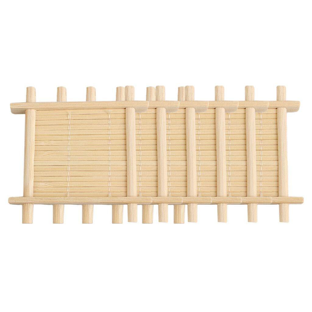 天然竹製ドリンクコースター6枚セット 中華風マグ用カップマット (色 - 2)   B07NV5SHKN