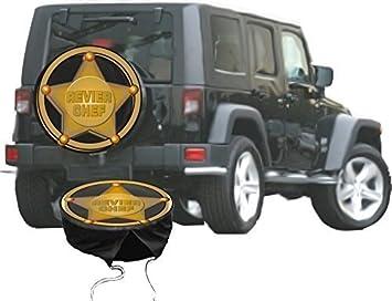 Funda para rueda de repuesto protectora Sheriff Estrella para su Jeep: Amazon.es: Coche y moto