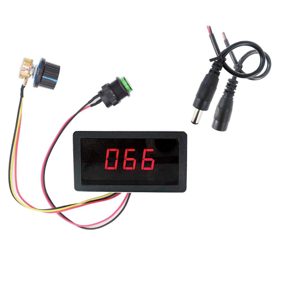 ZJLBTYCCM5D speed controller LED digital display PWM DC motor speed controller 6V12V24V30V stepless speed control switch controller