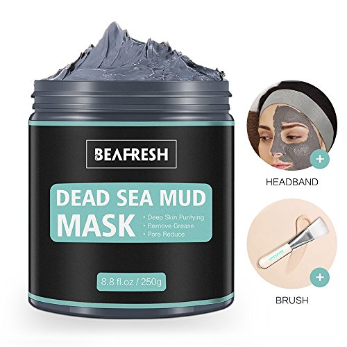 Naturals Dead Sea Mud Mask - Headband & Brush included for Face and Body...
