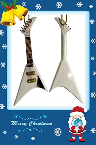 Musical Instrument Christmas Ornament Beautiful White Electric ()