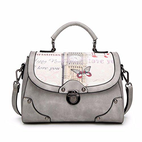 Bolso personalizado moda bolso bolso de hombro simple, gris