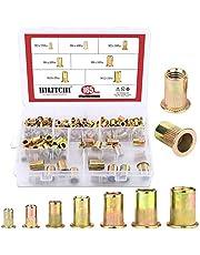 Hilitchi 150pcs Mixed Zinc Plated Carbon Steel Rivet Nut Threaded Rivnut Insert Nutsert M4 / 5/6 / 8/10
