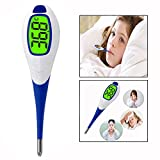 OFKPO Digital Medical Thermometer Quick Read with Fever Indicator and Flexible Tip Electronic