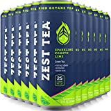 Energy Tea - Pomegranate Mojito - Ice Tea With As Much Caffeine As Coffee And No Crash - Low Calories & Low Sugar - 12 x 12oz - 150mg Caffeine Per Can