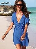 New Arrive Hot Women Skirt Dress Swimwear Sexy Bikini Cover up Summer Beachwear Brand Good Quality/color Sapphire Blue