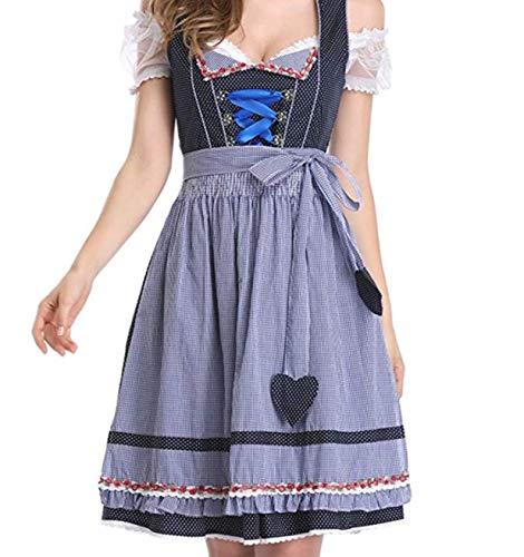 (EveryWell Women's Midi German Dirndl Dress Costume for Authentic Bavarian Oktoberfest (Medium,)