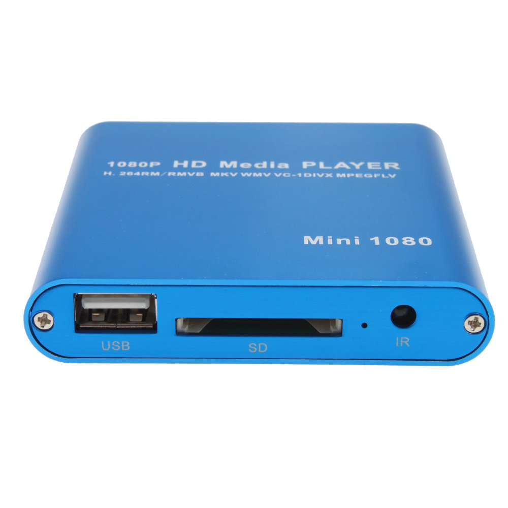 AGPtek® Mini 1080P Full HD Digital Media Player-MKV/RM-SD/USB HDD ...