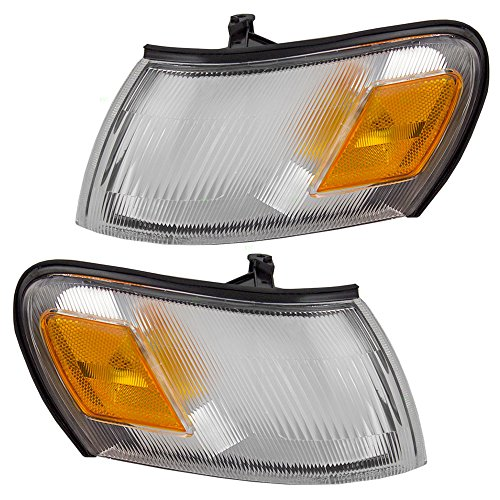 (Driver and Passenger Park Signal Clearance Corner Lights Lamps Replacement for Toyota 81620-12600 81610-12600)