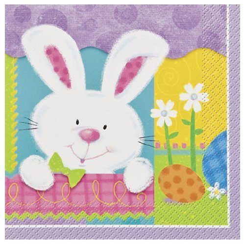 - Easter Patchwork Bunny Luncheon Napkins (20 Pack)