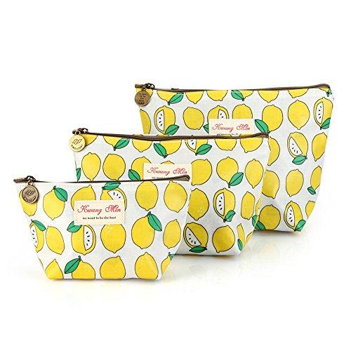 - 3Pcs Waterproof Cosmetic Bag Set, Portable Travel Toiletry Pouch Makeup Clutch Bag for Women, Girls