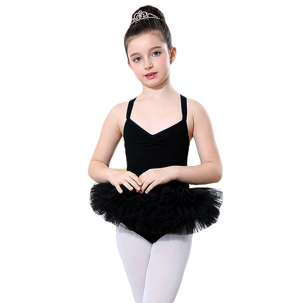 Yiiquan Ragazze Balletto Senza Maniche del Vestito da Principessa dal Tutu Leotard di Ginnastica One Size)