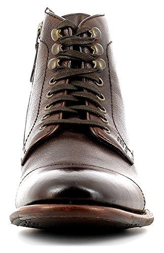Gordon & Bros Steve S160985 GL Stylischer, Eleganter Herren Leder Schnürstiefel mit Seitlichem Reißverschluss, Used Look, Leder/Gummisohle in Blake Rapid Machart Brown