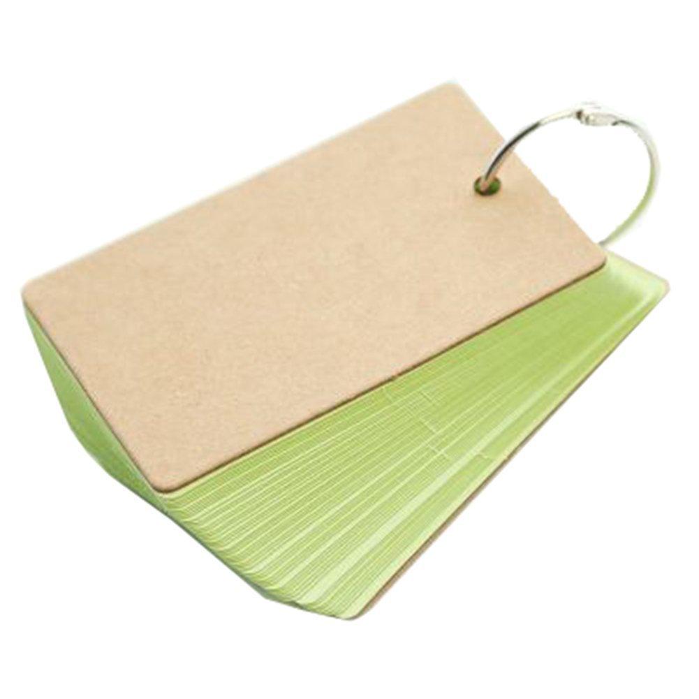 Hosaire 50 Piezas Tarjeta de papel Mini Notebook Blank Word Cards Tarjetas pequeñas NotePad Flash Cards Study Cards White
