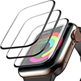 [3 Pack] Screen Protector for Apple Watch Series 4 40mm, Max Coverage Screen Protector HD Clear Anti-Bubble