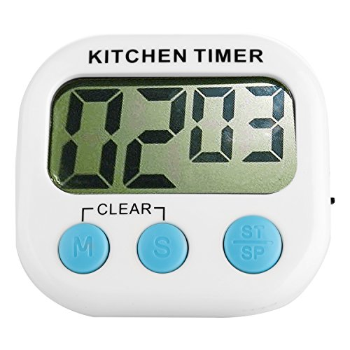 Watch Time Teacher Friends (Kumeida Digital Kitchen Timer, Big Digits, Loud Alarm, Retractable Stand, Magnetic Backing, Minute Second Count Up Countdown, Large LCD Display (1 Pack))