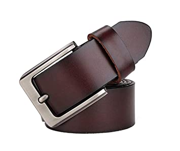 Top quality Automatic buckle Mens Belts Genuine Leather belts Size S-9XL Black