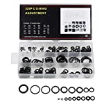 Gydandir Rubber O-Ring Sealing Gasket Washer Seal Assortment Set for Professional Plumbing, Automotive, Mechanic,Repairs,Air or Gas Connections (225 PCS)