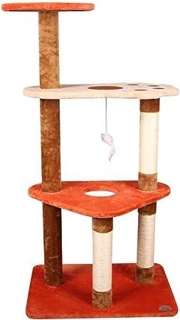 Gato Lujo Marco Escalada Árboles para Gatos Gato Árbol Trampolín De Cuatro Capas Pila Corta Bobinado De Sisal Huella Pequeña Observatorio Colgante Tingting: Amazon.es: Hogar