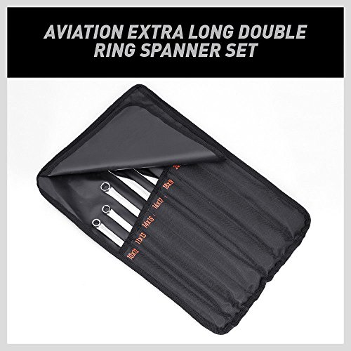 HORUSDY 7PC Aviation Extra Long Double Ring Wrenche Set 10mm - 24mm by HORUSDY (Image #1)