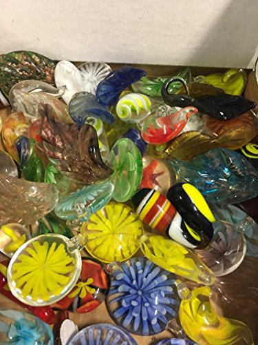 Glass Blown Hand made decorative, Pendents Assorted 25 PCS - Blown Glass Handmade
