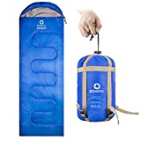 Cheap ECOOPRO Sleeping Bag 60F/15C– Single Envelope Lightweight Portable Waterproof&Compact with Compression Sack- Outdoor Camping, Backpacking&Hiking -Great for 4 Season Sleeping Bag Blue