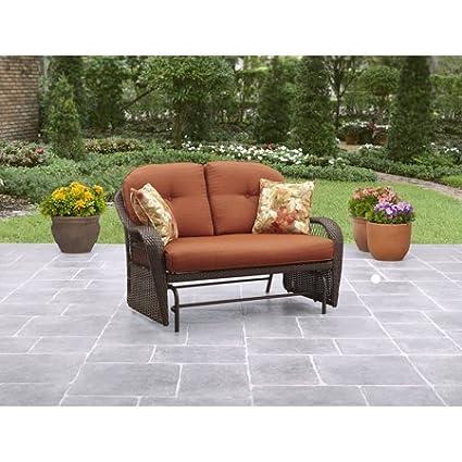 Stupendous Better Homes Gardens Outdoor Glider Seats 2 Vermillion In Burnt Orange Download Free Architecture Designs Momecebritishbridgeorg