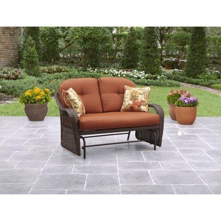 Better Homes & Gardens* Outdoor Glider, Seats 2, Vermillion in Burnt Orange