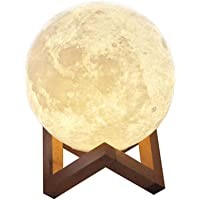 Aibecy 18cm/ 7.1 Inch Moon Lamp USB Rechargeable LED 3D Printed PLA Night Light Home Decorative Lights Touch Control