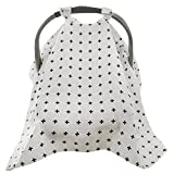 Baby Car Seat Cover Extra Large Unisex Nursing Shade Infant Girl Boy Canopy For Protection Safe & Breathable Babies Non Slip Adjustable by MakExpress