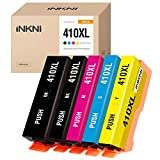 INKNI Remanufactured Ink Cartridge Replacement for Epson 410XL 410 XL T410XL for Expression XP-7100 XP-830 XP-640 XP-630 XP-530 XP-635 Printer (Black, Photo Black, Cyan, Magenta, Yellow, 5-Pack)