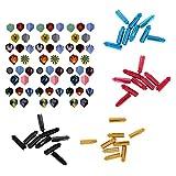 MonkeyJack 60 Pieces Various Color Standard Replacement Dart Flights with 36 Pieces Dart Flight Savers Protector