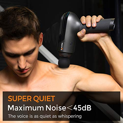 Everyfun Massage Gun Deep Tissue, Muscle Massager Gun, Handheld Electric Percussion Massager for Athletes, Super Quiet Powerful 3200mAh LG Battery 10H Working Time