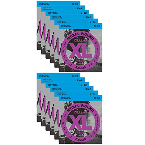 D'Addario EXL120 Electric 9-42 (12 Pack ()