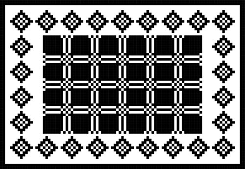Country Plaid Placemat: Diamonds and Plaid in Filet Crochet