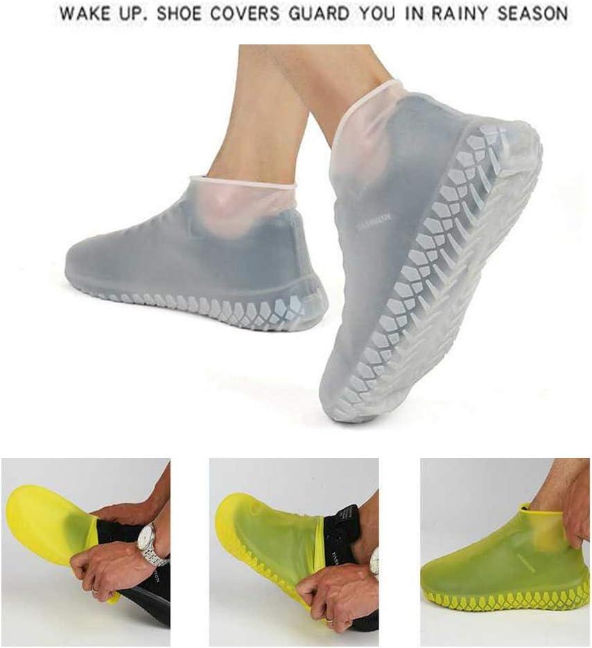 FOONEE Cubrezapatillas Antideslizantes Botas de Lluvia de Silicona