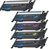 1 Pack + 1 Black of Total 5 Remanufactured Samsung CLP-320 Toner Cartridges Samsung CLP-320 CLT-K407S CLT-C407S CLT-M407S CLT-Y407S for Samsung CLP-320 Black Cyan Magenta Yellow Combo Set, Office Central