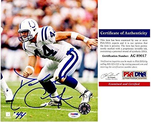 (Signed Dallas Clark Photo - 8x10 inch Super Bowl XLI Champion Certificate of Authenticity COA) - PSA/DNA)