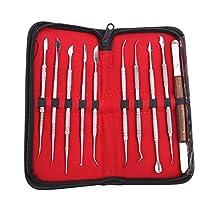 Dental Lab Equipment Wax Carving Tools Set,10 Pcs/Set