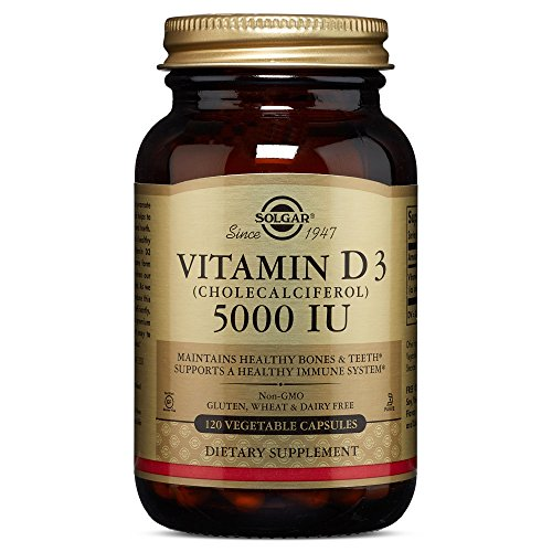 Solgar - Vitamin D3 (Cholecalciferol) 5,000 IU, 120 Vegetable Capsules