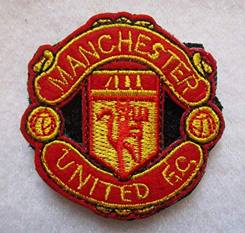 Manchester United England British Football Soccer Club 3D Tactical Military Badges Embroidered Patch Back with Loops and Hook ()