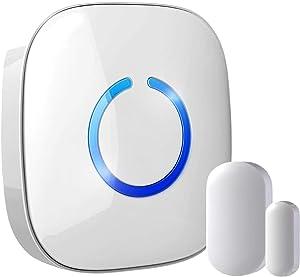 Hands-Free Door Chime or Window Alert with Magnetic Sensors, Activates When Door or Window is Opened, Door Open Chime or Window Alert, 1 Mini Discrete Door Sensors + 1 Plug-in Receiver